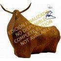 Sculpture Fighting Bull Rodeo in rusty bronze
