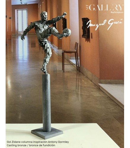 Zidane goal pillar inspiration Antony Gormley