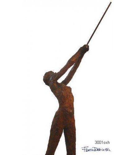 Sculpture Olimpic Movement n1 in Rusty Bronze