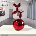 Red Dog Balloon on  Nickel Sphere