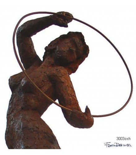 Sculpture Olimpic Movement n3 in Rusty Bronze