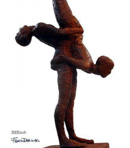 Sculpture Olimpic Movement n5 in Rusty Bronze
