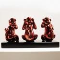 Wise monkeys red