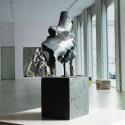 Sculpture Friendship in blue bronze