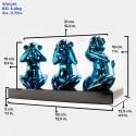 Wise monkeys blue