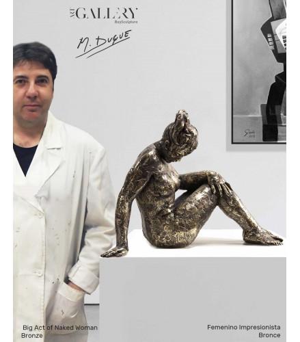 Big Act of Naked Woman Bronze
