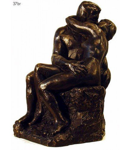 Sculpture The Kiss in Dark Bronze