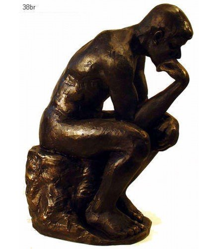 The Thinker in dark bronze