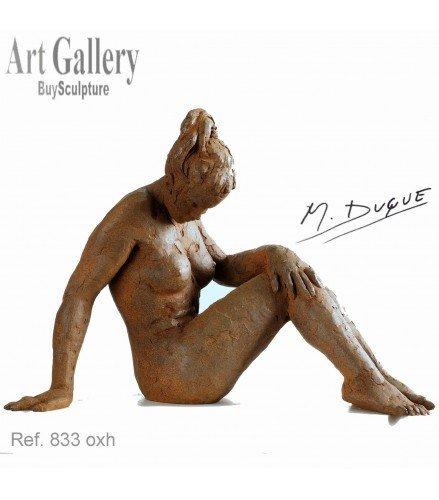 Sculpture Big act of naked woman