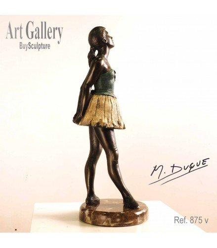 Sculpture young ballet dancer