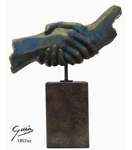 Sculpture Friendship 2 in blue bronze