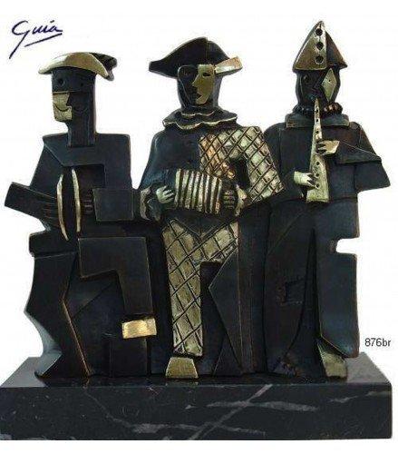 Sculpture Three Cubist Musicians