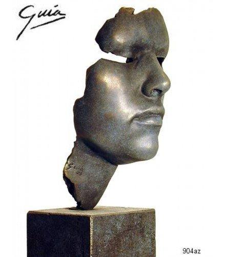 Sculpture Elisabeth in blue bronze