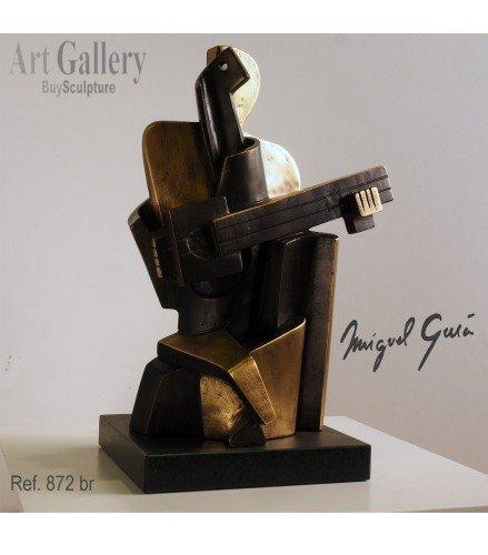 Sculpture Guitarist Arlequin