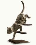 Impressionist sculpture Feline stealth by the sculptor Miguel Guía