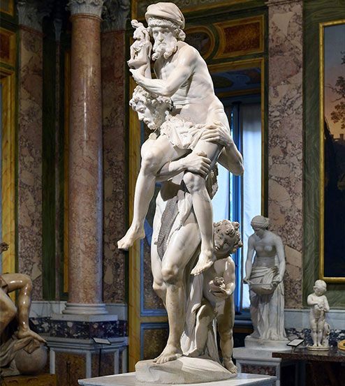 Aeneas, Anchises, and Ascanius sculpture