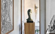 Cubist-style sculpture decorating a corner of your home