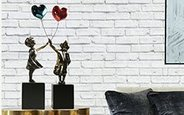 "Sculpture ""The girl and the balloon Big"" lost wax bronze casting by the sculptor Miguel Guía"